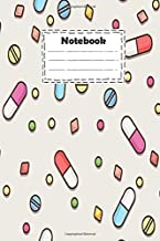Notebook: Pharmacy technician with different medicine colorful capsules: cute pharmacy technician Notebook for write reminders and gift for your loved and much more ( size 6x9 inches college ruled )