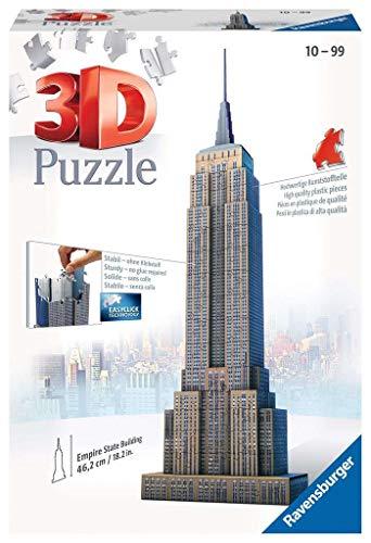 Ravensburger 12553 - Empire State Building - 216 Teile 3D Puzzle-Bauwerke