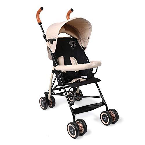 Cangaroo Buggy Diamond, kinderwagen, inklapbaar, dubbele wielen zwenkwielen voor, dak beige