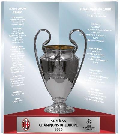 'Copa UEFA Champions League Trophy–Milan AC 150mm 3d Premium en caja de regalo