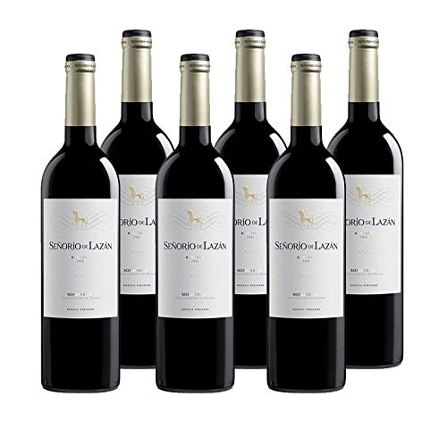 Vino tinto Señorio de Lazan Reserva de 75 cl - D.O. Somontano - Bodegas Barbadillo (Pack de 6 botellas)