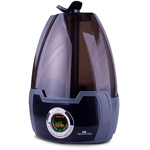 Air Innovations Black MH-602 1.6 Gallon Cool Mist Digital Humidifier for Large Rooms Up to 500 sq. ft