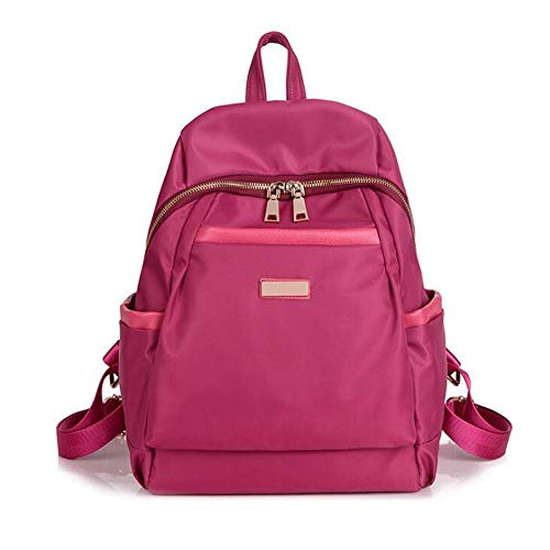 Beauty Case da Viaggio BorsaNylon oxford tela zaino spalla femminile grande capacità collegio vento casuale tromba rosa selvatica