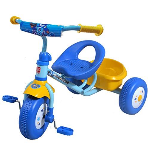 Kinderen driewieler 1-3 jaar oud eenvoudige winkelmand kinderwagen baby slip baby Artefakt fiets kinderwagen blauw