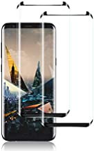 Galaxy S8 Plus Screen Protector by YEYEBF, [2 Pack] Full Coverage Tempered Glass Screen Protector [Bubble-Free] [3D Glass] [Anti-Glare] Screen Protector Glass for Samsung Galaxy S8 Plus