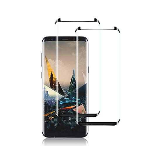Galaxy S8 Plus Screen Protector by YEYEBF, [2 Pack] Full Coverage Tempered Glass Screen Protector [3D Glass] [Bubble-Free] [Anti-Glare] Screen Protector Glass for Samsung Galaxy S8 Plus