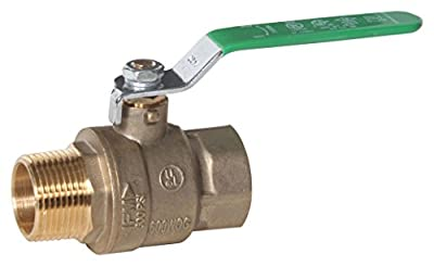 """Midwest Control MBB-75NL 600 Psi CWP 3/4"""" Mpt x Fpt Lead-Free Brass Ball Valve by Midwest-Control"""