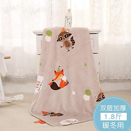 Blanket S-Werthy Couverture bébé Double épaisseur Molleton Corail Nouveau-né bébé Couverture de Cheveux Petite Couverture de Nuages bébé Couverture 100 * 140CM, C
