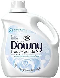 Downy Ultra Fabric Softener Free and Gentle Liquid 150 Loads, 129-Ounce by Downy