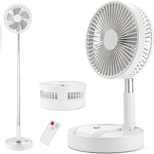 yanzz Ventilador de Escritorio silencioso Ventilador de habitación oscilante 5 velocidades 25dB Ventilador de Mesa silencioso Ventilador de circulación de Aire con Control Remoto Batería de 7200 m