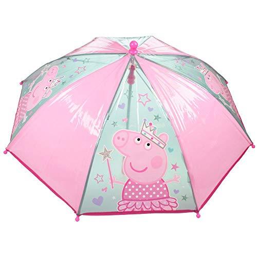Peppa Pig Paraguas Clásico Rosa | Transparente Niños