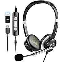 Earbay USB 3.5mm Jack On-Ear Noise Cancelling Headphones with Microphone