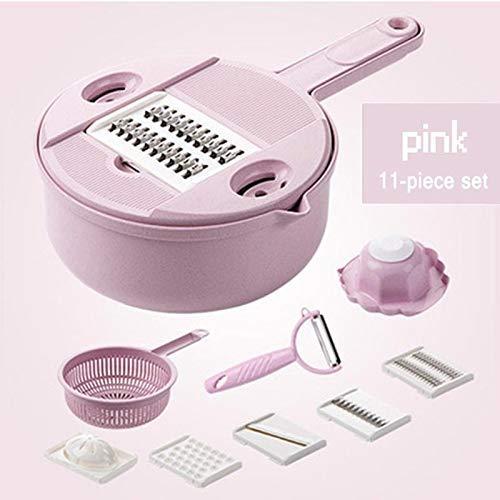 GYC Multifunktions-Küchenschneider Multifunktionsschneiden Lebensmittel Kartoffel Karotte Veggie Reibe Chopper Schneidemaschine Käsereibe