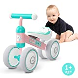 XIAPIA Kinder Laufrad Spielzeug für 10 - 24 Monate Baby, Lauflernrad mit 4 Räder, Erst Fahrrad für Jungen/Mädchen als Geschenke für 1 Jahr Alt (Katze)