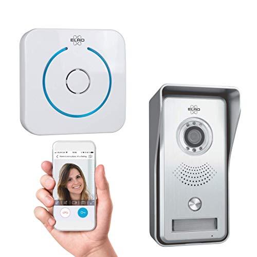 ELRO DVC040IP Interphone Portier vidéo IP Wifi - Caméra avec vision nocturne - avec Gong d'intérieur - Visualisation et communication via App