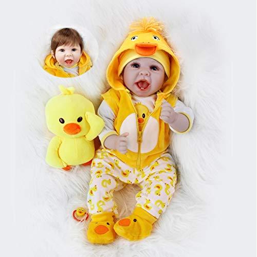 ZIYIUI Poupées de bébé Reborn réalistes de 22 Pouces, poupées de bébé en Silicone Souple...