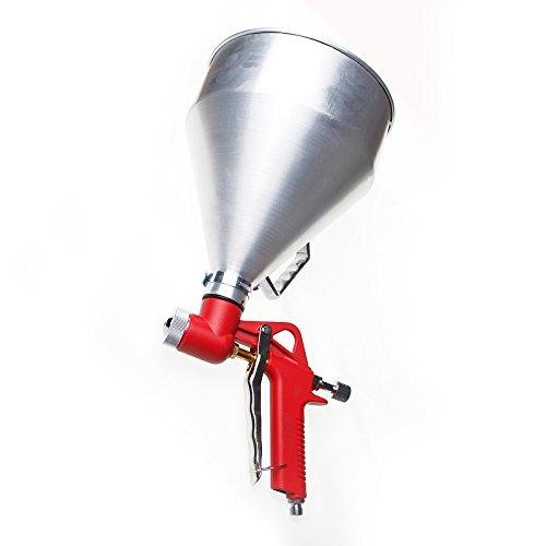 221470 Tolva Alimentador Exterior 1-1/2 Galón Textura Pintura Pistola Pulverizadora Taza de Aluminio
