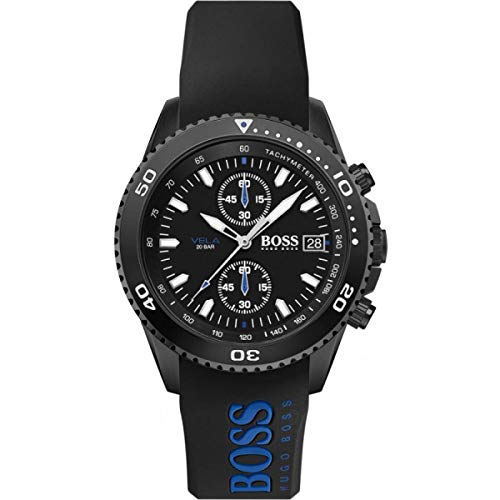 Hugo Boss Chronograaf Quartz Horloge voor heren met Siliconen Band 1513776