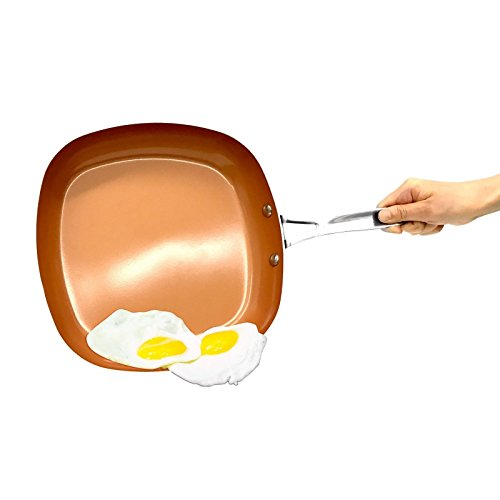 As Seen on TV Gotham Steel 2' Deep Square Copper Frying Pan- BRAND NEW!