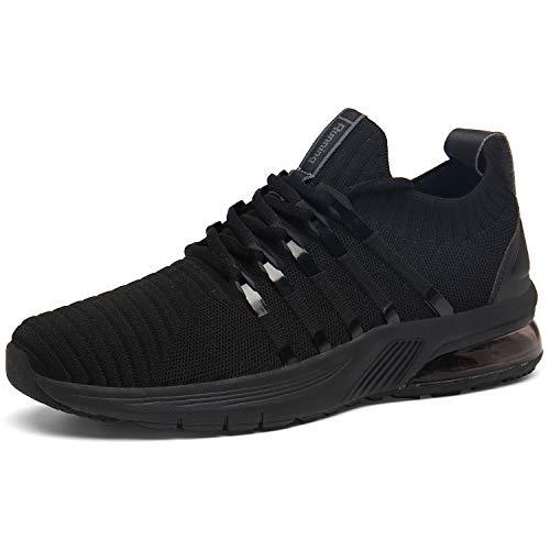 Entrenadores de Entrenadores de Gimnasio Fitness Deportes Zapatos de Aire Ligero Carretera Zapatillas Transpirables Deportivas Casual Absorción de Choque, color, talla 45 EU