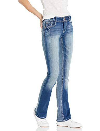 WallFlower Women's Instastretch Luscious Curvy Bootcut Jeans, Jenna, 11 Short