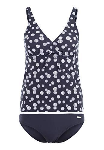 Lascana Damen Bügel-Tankini im Punkte-Design mit bauchbedeckendem Top und bequemer Bikini-Hose