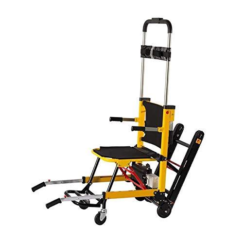 Silla de ruedas eléctrica para escaleras eléctricas autopropulsada plegable asistida, silla de ruedas eléctrica ajustable, adecuada para personas mayores para subir escaleras