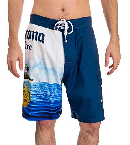 Calhoun Corona Extra-Strand-Szene Board Shorts Medium