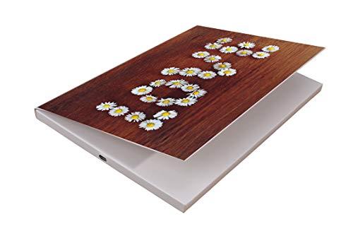 SoundGreets Audio Grußkarte inkl. USB Kabel - Sound Datei (Mp3) bis 4 Min. Länge vom PC per USB aufspielen, Aufladbarer Akku, Top Lautsprecher, mit Musik (LOVE Gänseblümchen)