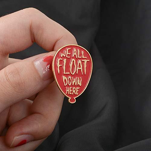 chenlong Clown Red Balloon Emaille Pin It Badge Brosche Anstecknadel Für Denim Jeans Hemd Tasche Schmuck Geschenk Für Fans Freunde