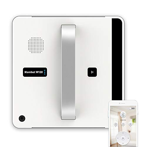 Mamibot W120 Window Cleaning Robot with Smart App/Remote Control, Automatic Robotic Vacuum for Inside and Outdoor High-Rise Window, Glass,Tiles,Bathroom Cleaning