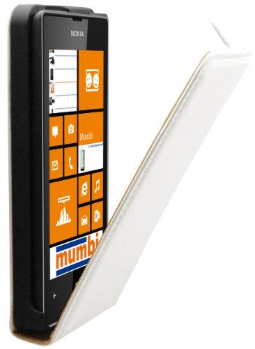 mumbi Tasche Flip Case kompatibel mit Nokia Lumia 520 Hülle Handytasche Case Wallet, weiss