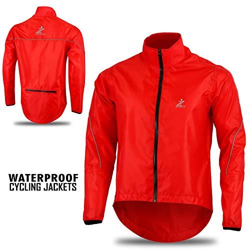 Z Sports - Chaqueta Impermeable para Hombre, Hombre, Color Rojo, tamaño XX-Large