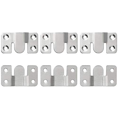Sayayo Muebles Interlock Style Sofás seccionales Conectores Bracket Pinturas murales Ganchos, Acero inoxidable cepillado, 6 piezas, ex808 - 6PEX808-6P