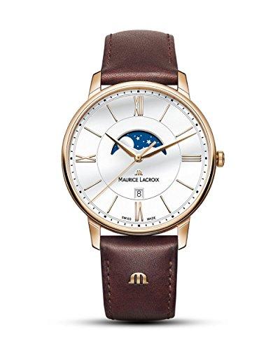 Maurice Lacroix Herren Analog Quarz Uhr mit Leder Armband EL1108-PVP01-112-1