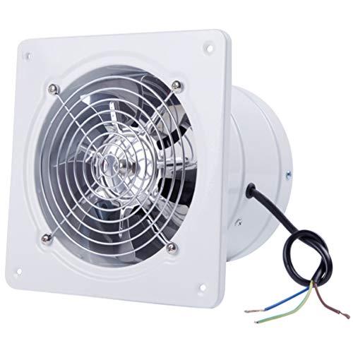 YARNOW Wall Mounted Exhaust Fan Shutter Fan 8 Inch for Home Bathroom Kitchen Attic Shed Garage Ventilation (White)