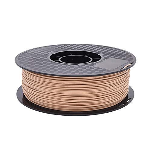 Filamento per stampante 3D 1,75 mm, bobina di filamento PLA WOOD da 1 kg, per stampanti 3D e penne 3D