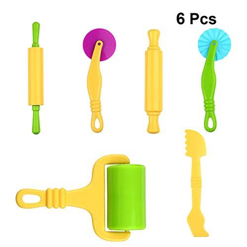 Artibetter 6 Stks Plastic Kleurrijke Duurzaam Multifunctioneel Deeg Gereedschap Klei Deegroller Handheld Roller Art Klei Speelgoed Voor Kinderen Ambachtelijke Diy Kinderen
