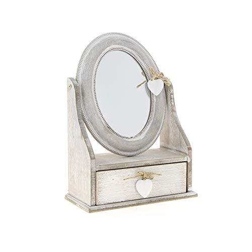 Espejo Ovalado Gris