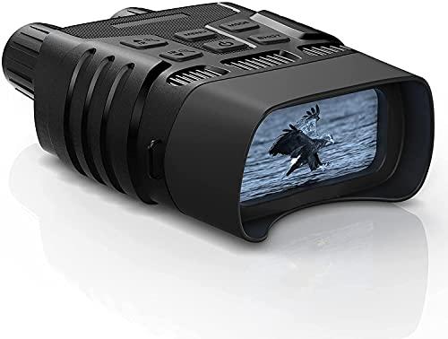 """Binocolo Visione Notturna, BOOVV Professionale Visore Notturno Infrarossi con LCD TFT 2,31"""" di Portatafino a 300m, Binocolo Militare con Registrazione di HD Foto e Video per la Caccia"""
