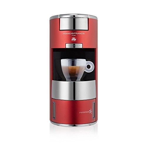 illy X9 Espresso Machine, 4.8 x 10.5 x 10.6, Red