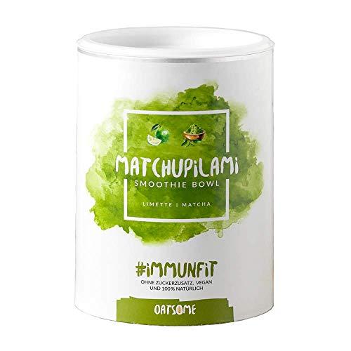 Matchupilami - Smoothie Bowl - Nährstoff Frühstück mit 100% natürlichen Zutaten & ohne Zusatzstoffe und raffinierten Zucker - Lange satt mit nur 200 kcal - 400g