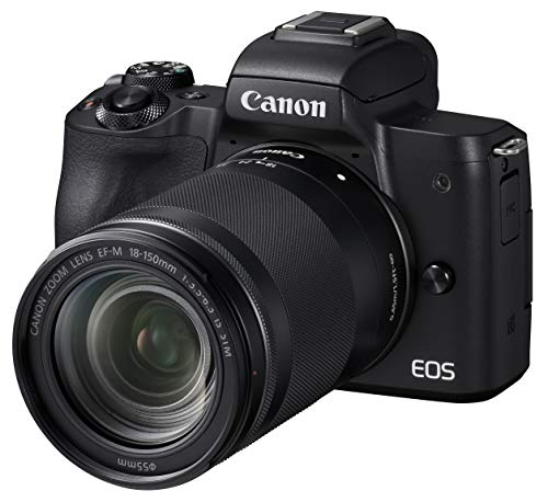 Canon キヤノン ミラーレス一眼 EOS Kiss M ブラック レンズキット EF-M18-150 IS STM付属 EOSKISSMBK-1815...