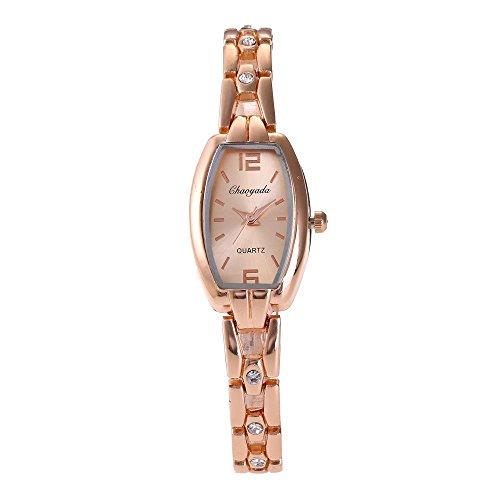 Heren & Dames Horloges, quartz horloge creatieve band met strass steentjes tafel trend temperament