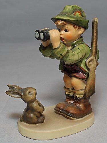 Hummel Figurine  307 Good Hunting (Boy & Rabbit)  5.25  H