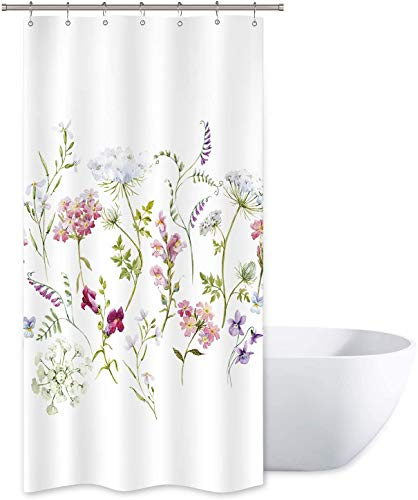 Riyidecor Herbs Floral Plants Shower Curtain 36' W x 72' H...