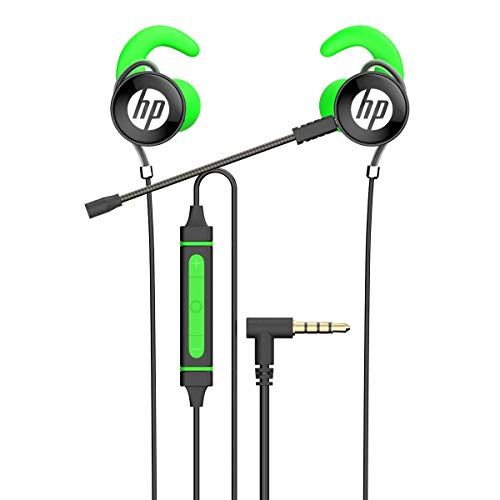 HP PS4 Gaming Earbuds in Ear Headphones with Mic, Stereo Bass Earphones with Detachable Dual Microphone and Volume Control for Mobile Devices, Xbox One, PS4, PC