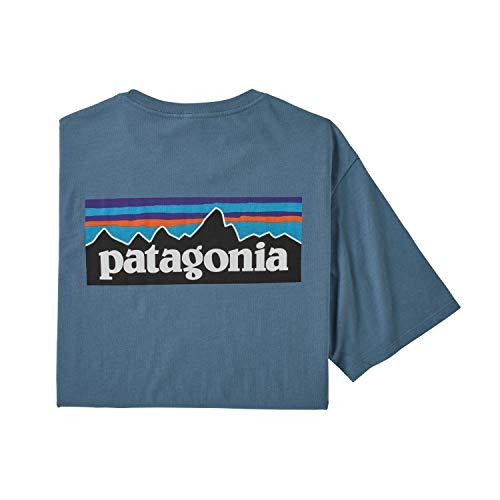 Patagonia M's P-6 Logo Organic T-Shirt für Herren XL blau (Pigeon Blue)
