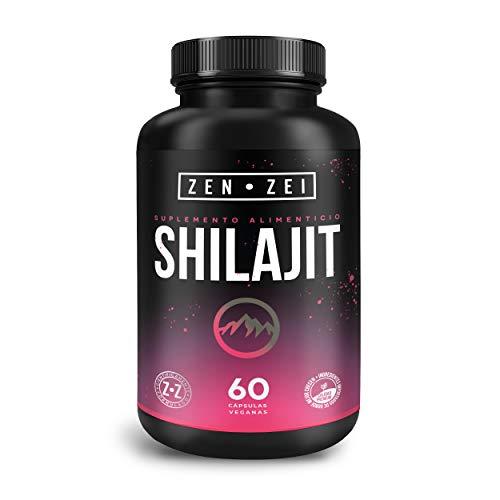 ZEN•ZEI | SHILAJIT | Suplemento Inteligente para Aumentar tu Vitalidad, Fuerza y Energía — Mineral Extraído del Himalaya — Formulado con: Shilajit y Açai — 60 Cápsulas Veganas | Calidad Premium
