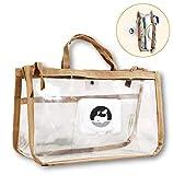 EDWEKIN® 2in1 Windeltasche und Taschen Organizer/Kosmetiktasche, transparente multifunktionale Wickeltasche, wasserdicht, Baby Erstausstattung, Innentasche der Handtasche